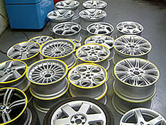 A sample batch of finished wheels